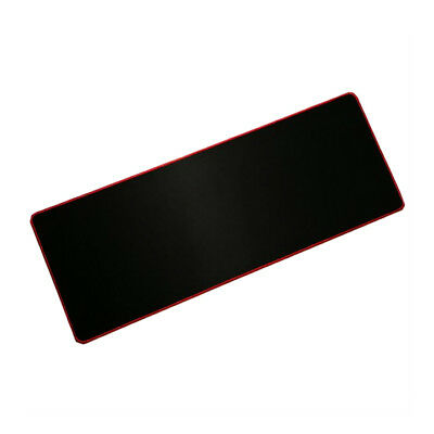 Large Solid Color Non-Slip Gaming Mouse Pad 800*300mm Rubber Black