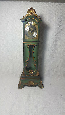 "Vintage 1950's ~ Schmid 8 Day Miniature Grandfather Clock ~ 13"" Germany German"