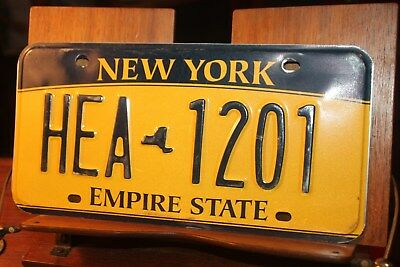 2010 New York Empire State License Plate HEA 1201