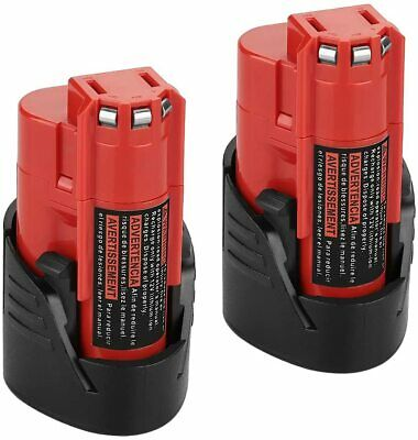 Powerextra 12V 2500mAh Lithium-ion Replacement Battery for Milwaukee M12 Milwauk