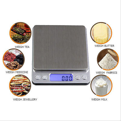 3000g x 0.1g Electronic Digital Pocket Scale Gram Jewelry Diet Balance Weight