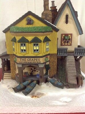Dept 56 Dickens Village ~ The Grapes Inn ~  Mint In Box 5th Edition 1996