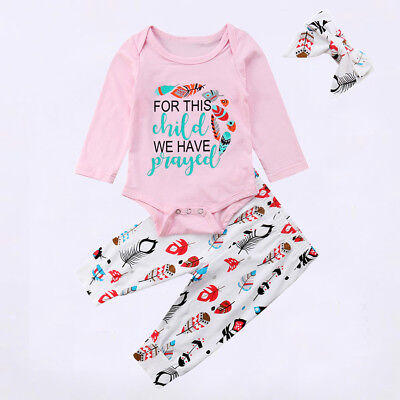 Baby Girl Coming Home Outfit Feather Pants Newborn Outfits Organic Clothes Gift