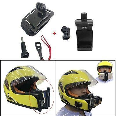 Motor Full Face Helmet Chin Mount Holder Clip for GoPro Hero Camera/Mobile Phone