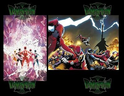 Mighty Morphin Power Rangers Shattered Grid #1 Main & Holofoil Variant Pre Sale