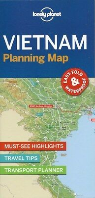 Lonely Planet Vietnam Planning Map *FREE SHIPPING - NEW*