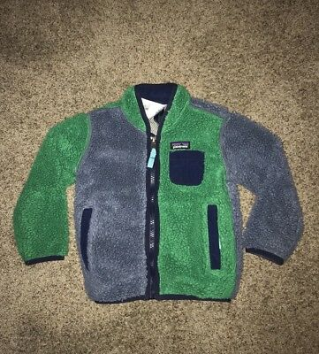 a158d2874 PATAGONIA RETRO X Deep Pile Fleece Jacket Baby Toddler Size 18 Month RARE!