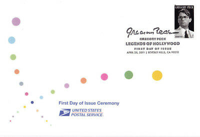 USPS First Day Ceremony Program #4526 Gregory Peck Hollywood Legend 2011