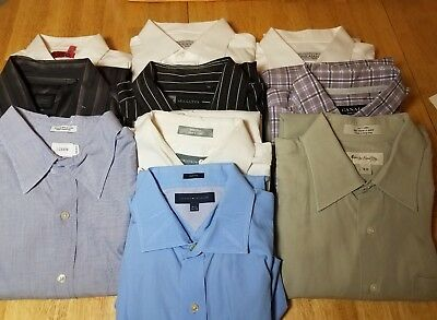 Reseller Lot of 10 men's dress shirts assorted Brands and assorted sizes