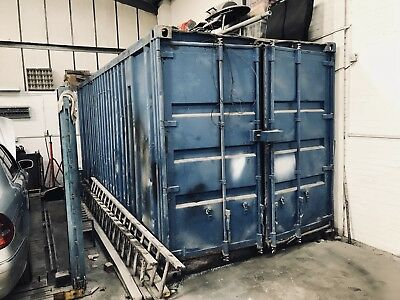 20ft Shipping Container NO RESERVE , Fitted With Lights And Sockets And Shelving