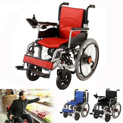Fauteuil Roulant Electrique Portable Pliable Manual Disabled Elderly Mobility