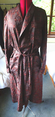 Vintage 1940's 50's Tootal Tricel Smoking Jacket Dressing Gown size M