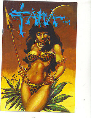 Fana 1 vfn 1990  Burcham Studio good/ bad girl scarce US Comics