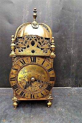 Lantern Clock mechanical 8 day striking the quarters and hours rare clock.