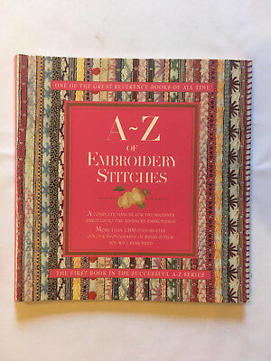 A-Z of Embroidery Stitches. Embroidery instruction & pattern book. New