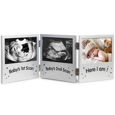Triple Baby Scan Picture Frame For Ultrasound/Sonogram Images Perfect Gift New