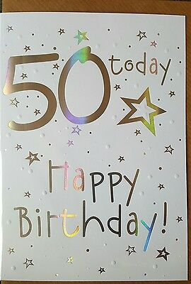 50 TODAY HAPPY BIRTHDAY  - 50th BIRTHDAY CARD