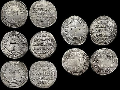 BYZANTINE. Lot of 5 Silver Miliaresion, Constantine VI with Leo and Irene