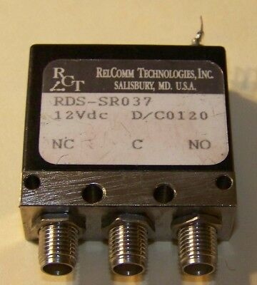 One good used RelComm 12V Failsafe form C SMA relay DC to 18GHz 50W @ 10GHz!