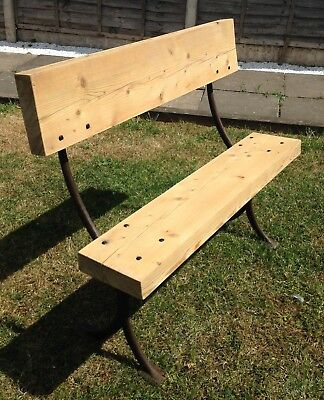 antique garden bench vintage cast iron with chunky timbers
