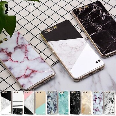 HUAWEI P20 P8 P9 Lite 2017 P10 P Smart Soft Silicon Marble Cartoon Cover Case