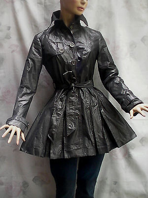 Attitude Jay Manuel Charming Layered Belted Pleated Lined Trench-Coat O-Xs