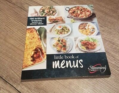slimming world little book of menus new 2018