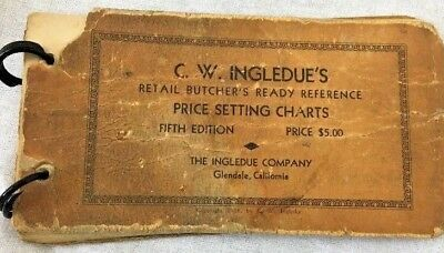 Vintage Butchers Reference Chart 1928