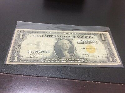 1935 A $1 Silver Certificate Note WW2 North Africa Yellow Seal