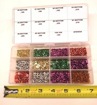 Bottom Pin Rekeying Kit for Schlage. Contains 144 ea of all Bottom Pin Sizes.