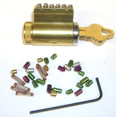 Locksmith Practice Lock With Removable Pins. Works With 1 Pin in or all 6 Pins.