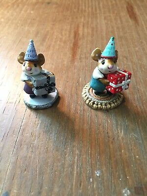 Wee forest folk Figurines Happy Birthday Pair
