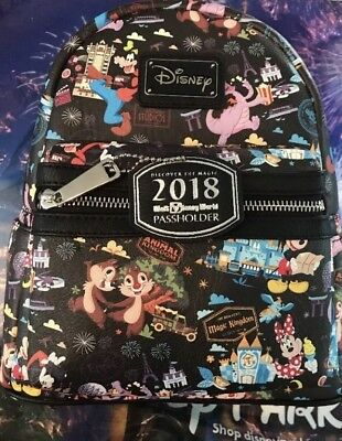 Disney World Loungefly 2018 Annual Passholder Exclusive Mini Backpack
