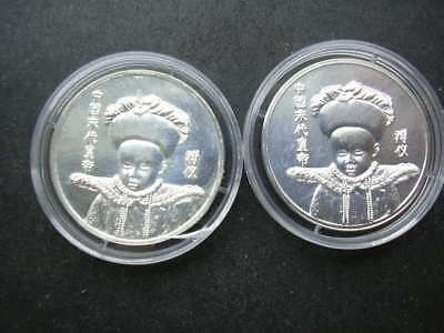 china 2 medaillen 500 silber