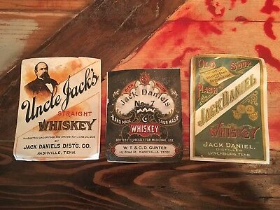 old jack daniels labels