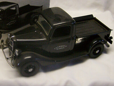 "1935 FORD ""CLERMONT SUPPLY"" BLACK PICKUP TRUCK DECANTE W/ ORIGINAL BOX from 1988"