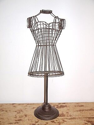 Vintage Style Wire Dress Form Mannequin Stand Metal Scrolling Display Home Decor