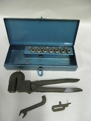 Vintage Bernard No. 9 Metal Punch Set Kit  (A9)
