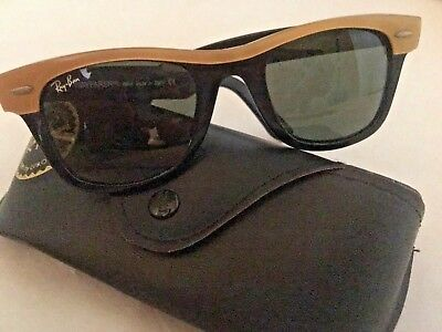 Vintage Ray Ban Wayfarer ll Women's Sunglasses Black/Gold Made in Italy W/Case