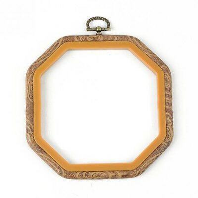 Practical Cross Stitch Machine Bamboo Frame Embroidery Hoop Ring Hand DIY N O6U8