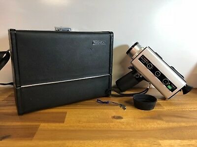 Vintage Yashica Electro 8 LD-6 Super 8 Film Camera With Case + Key Made In Japan