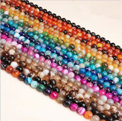 4~12MM Hot Natural Agate Loose Beads DIY Bracelet Necklace Jewelry Accessories