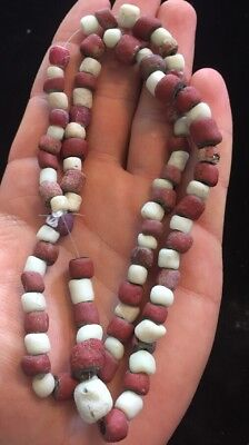 Pawnee Native American Trade Bead Necklace Found In Oklahoma G73