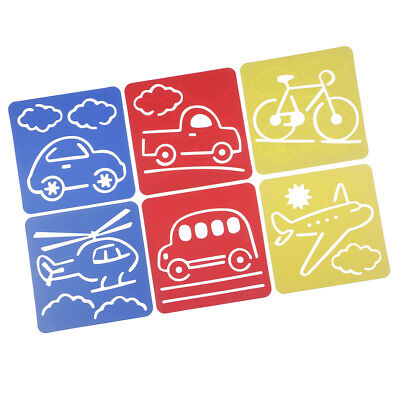 6 Patterns Drawing Stencil Painting Template Vehicle Template 5.9x5.5inch