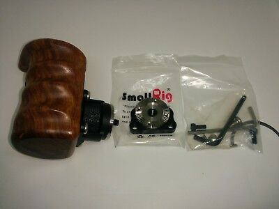 Niceyrig Wooden Handle With Arri Rosette Right With Smallrig Rosette Mount