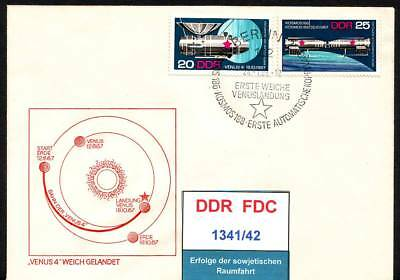 DDR, FDC 1341/42, 1476, 1477 gestempelt, s.scan top sale!!