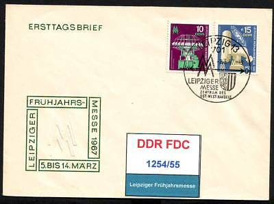 DDR, FDC 1254-1257 gestempelt, s.scan top sale!!