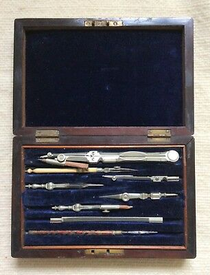 Victorian boxed set of drawing instruments