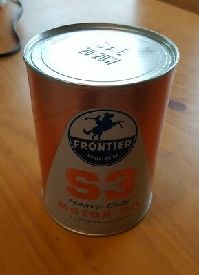 RARE Beeline & Frontier S3 Rarin'-To-Go Lube Motor 1 QT Oil Can - DISPLAY? READ!