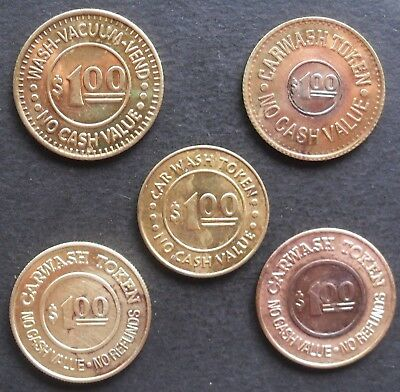 $1 car wash  tokens - 5 types